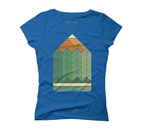 Draw mountains Women's Graphic T-Shirt - Design By Humans Royal Blue
