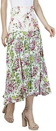 Iconic Women's 2091017 SS23PRTYOKSK Asymmetric Woven Skirt, Multic