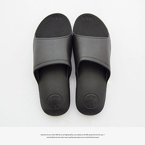 DogHaccd pantofole,Home estate coppie raffreddare bagno pantofole, arredamento bagno antiscivolo pantofole inferiore maschio Nero2