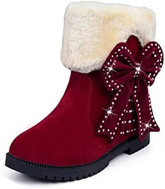 BVC Inverno Caviglia Scarponi da Neve Decorazione Arco Carino Carino Carino Donne Calde Stivali Corti,rosso,34 | Terrific Value  3a3a87