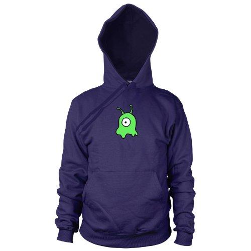 Gehirnschnecke - Herren Hooded Sweater, Größe: S, dunkelblau (Futurama Kostüme)