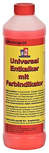 K Kaffeereiniger24 - 500ml qualitativer Flüssig-Entkalker mit praktischem Farbindikator | universell einsetzbarer Kalklöser | Bis zu 4 Entkalkungen | umweltfreundlich | made in germany