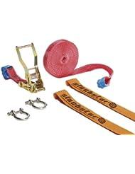 Slackstar SL81775-10 - Accesorios para práctica de slackline (10 m), color rojo
