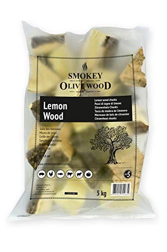 Smokey Olive Wood 5 kg L5-01-5.0K Zitronenholzdübel für Grill und Räucher. Größe 5 bis 10 cm