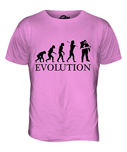 CandyMix Schädlingsbekämpfung Evolution Des Menschen Herren T Shirt Rosa