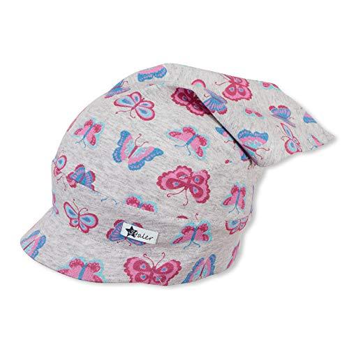 Sterntaler Kopftuch für Mädchen mit Schmetterling-Motiv, Alter: 2-4 Jahre, Größe: 53, Rosa (Orchidee)