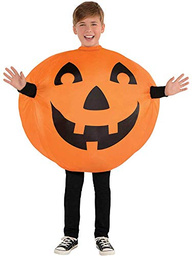 CHILDS INFLATABLE JACK-O-LANTERN COSTUME - MEDIUM (8 - -