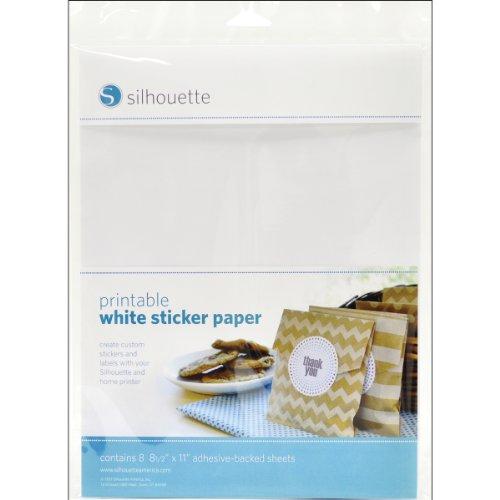 (Silhouettes druckbares Stickerpapier, weiß)