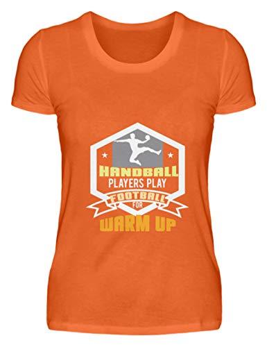 Schuhboutique Doris Finke UG (haftungsbeschränkt) Play Football Handball to warm up - Damenshirt -L-Mandarin Orange
