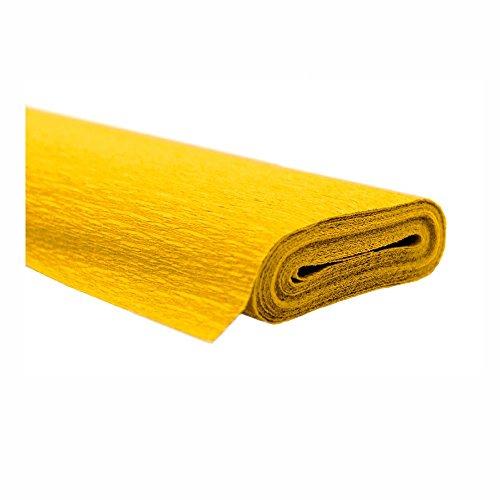Krepppapier gelb 50x250 cm Rolle färbt nicht ab bei kontakt mit Wasser
