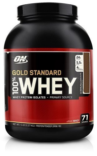 Gold Standard ON Optimum Nutrition 100% Whey Best Protein (Extreme Milk Chocolate, 2270 g) by Optimum Nutrition -