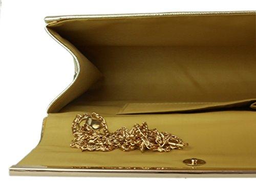 Girly HandBags Lackleder glänzend Handtasche Gold
