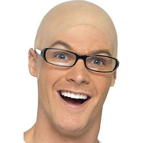 NET TOYS Latex Glatze Glatzen Perücke Glatzkopf Latexglatze Glatzenperücke Skinhead Kostüm Zubehör