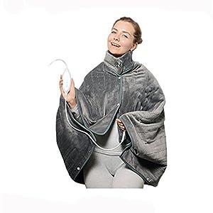 YjfGuoYa Elektrischer Heizungsphysiotherapie-Schal, 120W Energiesparender Thermostatischer Elektrischer Mantel