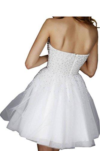 Promgirl House Robe de soirée pour femme, ligne populaire, robe de cocktail avec perles, robe courte Bleu - Bleu