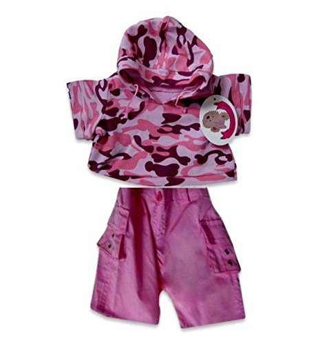 Pink Camo Teddy Bear Sleeping Bag fit build a bear factory Teddies