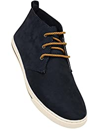Tresmode Mens Leather Lace Up Casual Shoes