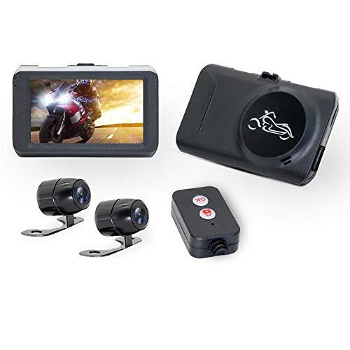 CONRAL Wasserdichter Motorrad Front und Heck Dual Dash Cam, 1080P 3