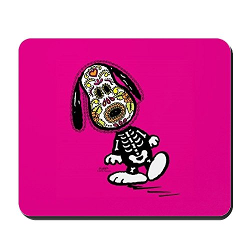 CafePress–Tag der Hund Snoopy–rutschfeste Gummi Mauspad, Gaming Maus ()