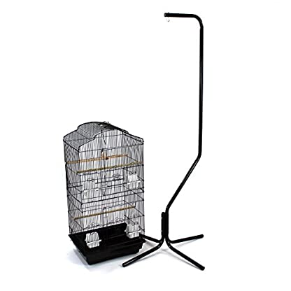 Easipet Large Metal Bird Cage with Stand Suitable For Multiple Birds (Black) 2