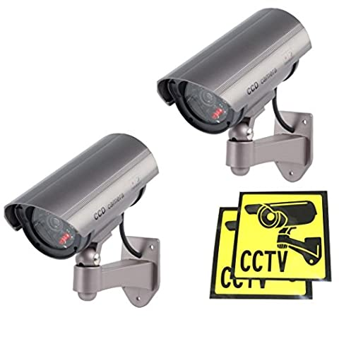 Ex-Pro High Quality Dummy / Fake CCTV IR Security Camera /indoor housing camera. With built-in flashing LED, Fake LED IR. Mounting bracket included. [2
