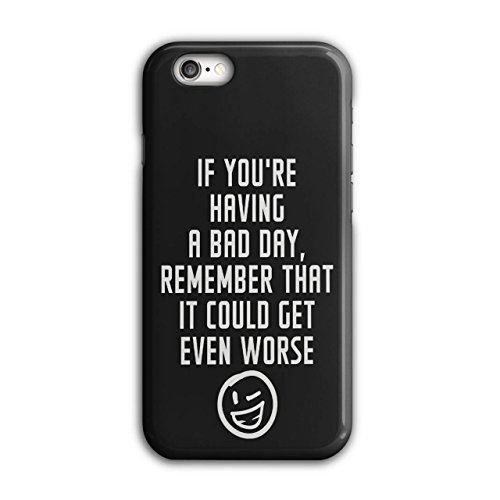 Optimistisch Sprichwort Komisch Winky Smiley Schwarz 3D iPhone 6 / 6S Fall | Wellcoda