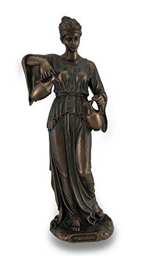 Kardinal Virtue Temperance Bronze Finish Statue handbemalt Akzente -