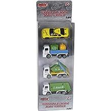 Set 4 Vehiculos Limpieza de Juguete 7.5 cm.