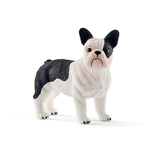 Figura de bulldog francés pintada a mano