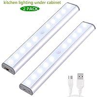 2 Pack Anywhere Portable Little Light Wireless LED Under Cabinet Lights 10-LED Motion Sensor Activated Night Light... preisvergleich bei billige-tabletten.eu