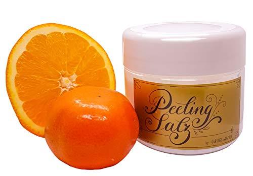 LUXUS Saunasalz aus dem Toten Meer, Peeling Salz mit ätherischen Ölen Orange Mandarine, Duschsalz, Sauna Zubehör hochwertig