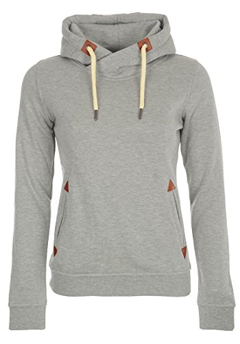 DESIRES VickyHood - Felpa con Cappuccio da Donna, taglia:M;colore:Light Grey Melange (8242)