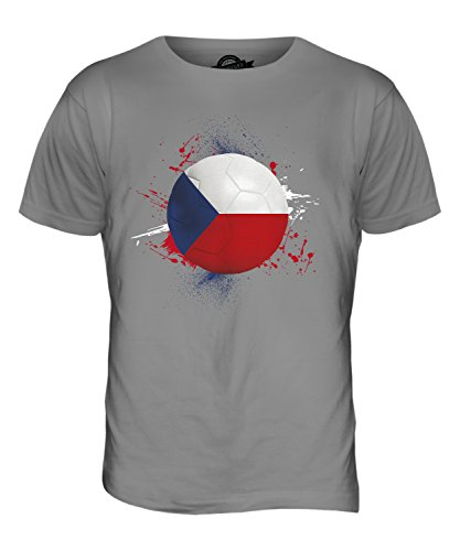 CandyMix Tschechien Fußball Herren T Shirt Hellgrau