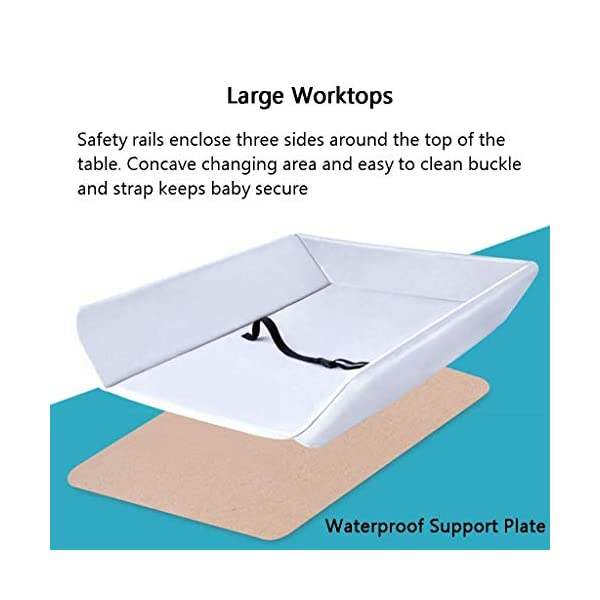 Folding Baby Changing Table for Small Spaces, Portable Nursery Infant Diaper Massage Station Dresser for Household Travel, Grey, 0-2 Years Old (color : B) AA-SS-Changing Table Stable Construction: Sturdy metal frame keep the table stable. While the other part is made of durable and wearable Oxford cloth. Folding: Easily fold it if you finish all the tasks! With its space saving design, you can store it behind a door. Large Storage Space: Equipped with 3 compartments aside the table, you can place soaps, towels and any other accessories conveniently. 6