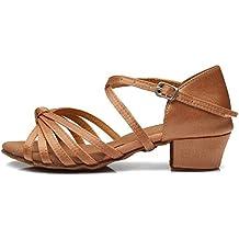 YKXLM Mujeres&Niña Zapatos Latinos de Baile Zapatillas de Baile de Salón Salsa Tango Performance Calzado de Danza,ES203