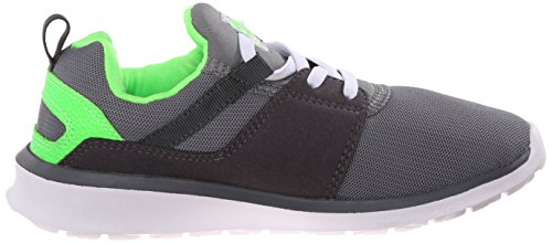 DC Heathrow Casual Skate Shoe (Toddler/Little Kid/Big Kid), Black/Red, 1.5 M US Little Kid grigio / bianco / verde