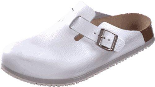 Birkenstock Classic Boston Leder Unisex-Erwachsene Clogs White