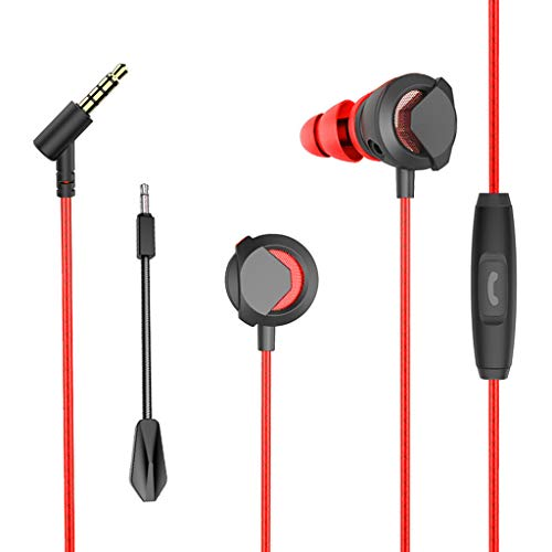 Yallylunn HiFi Earphone for Competition Game Clear Voice Capture Technologie Headphone Super Bass Stereo Headset with Mic