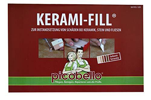 Reparatur-Set Kerami-Fill für die Instandsetzung von Schäden bei Keramik, Stein und Fliesen - Set in Terracota-Serie (Keramik-fliesen-reparatur-set)