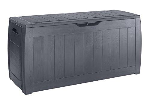 Chalet-Jardin 12HOLLYWOOD - Caja de almacenamiento para el jardín (270 L), color gris