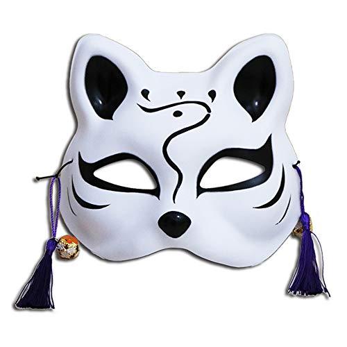 OYWNF PVC Half Face Cat Fox Gesichtsmasken Halloween Karneval Night Party Anime Kostüm Maske (Color : Style - Cat Zombie Kostüm