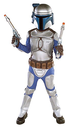 Star Wars - Jango Fett Kinder Kostüm, 4-teiliges günstiges Komplettkostüm für Karneval - S (Fett Kostüm Jango Kinder)
