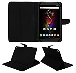 ACM Executive Leather Flip Flap Case for Alcatel Pop 4 10.1 Tablet Front & Back Cover Black