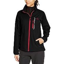 Ultrasport Mia - Chaqueta para mujer, color negro / rosa, talla XS