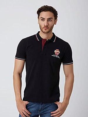 Yak Yak Mens Black Polo T-shirt