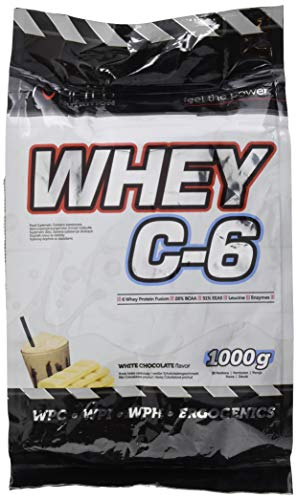 HI-TEC Whey C-6 Bia³a Czekolada, 1000 g