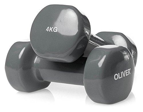 OLIVER Vinyl Hantel 2 x 4,0 kg Hantelset Kurzhanteln Fitness Aerobic Training (Hantel-equipment)
