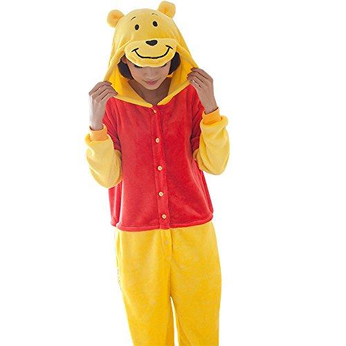 Frau Pokemon Pooh Schlafanzug Erwachsene Anime Cosplay Halloween Kostüm Kleidung Größe M