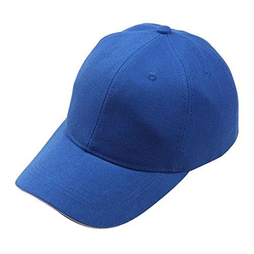 Culater® Hommes Femmes Réglable Casquette de Baseball Snapback Hip-Hop Chapeau Bleu