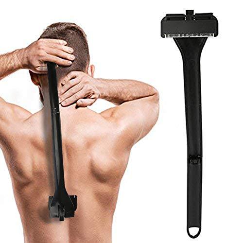 Afeitadora de espalda de alta calidad Manual de todo el cuerpo, pelo largo, manija, cabello plegable, quita la maquinilla de afeitar, para un afeitado mojado o seco sin dolor